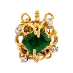 Emerald Diamond Yellow Gold Clasp
