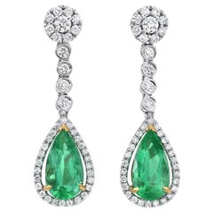 Colombian Emerald Earrings 4.61 Carats
