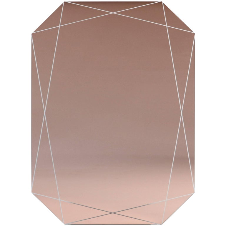 Emerald Etched Mirror Peach For Sale