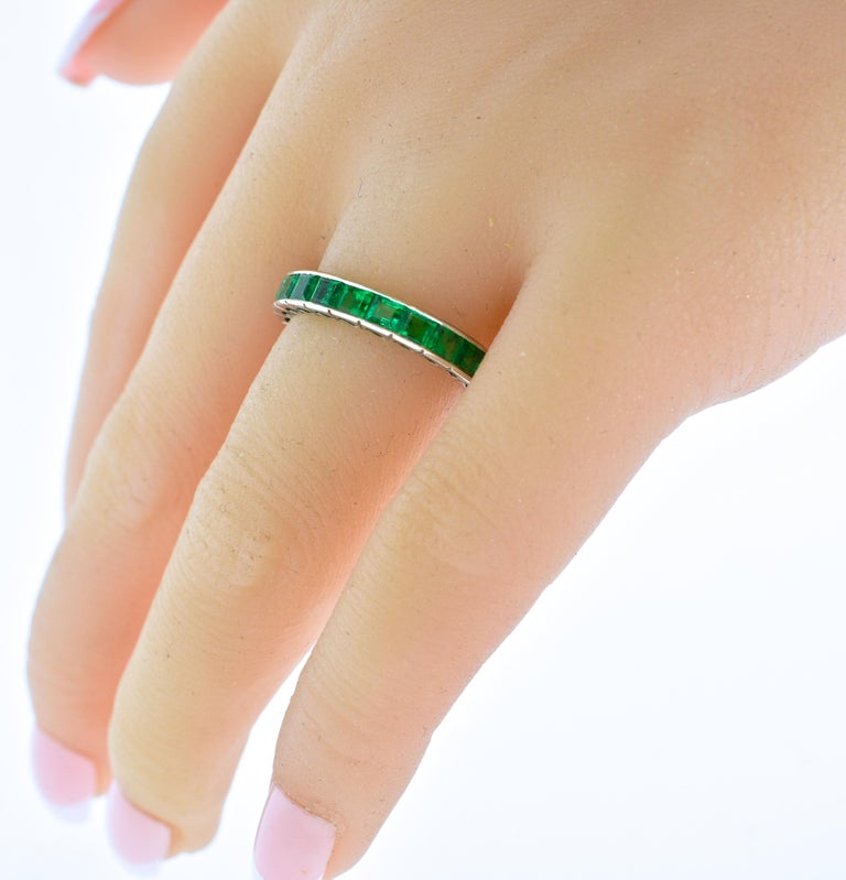 Women's or Men's Emerald Eternity Band