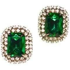 Emerald glass Earrings