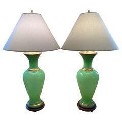 Emerald Glass Table Lamps