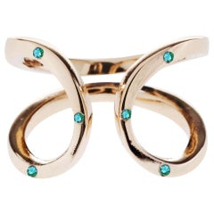 Emerald Gold Ring Onesie Adjustable J Dauphin