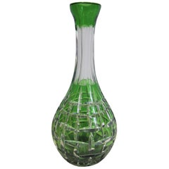 Emerald Green Crystal Liquor or Water Decanter