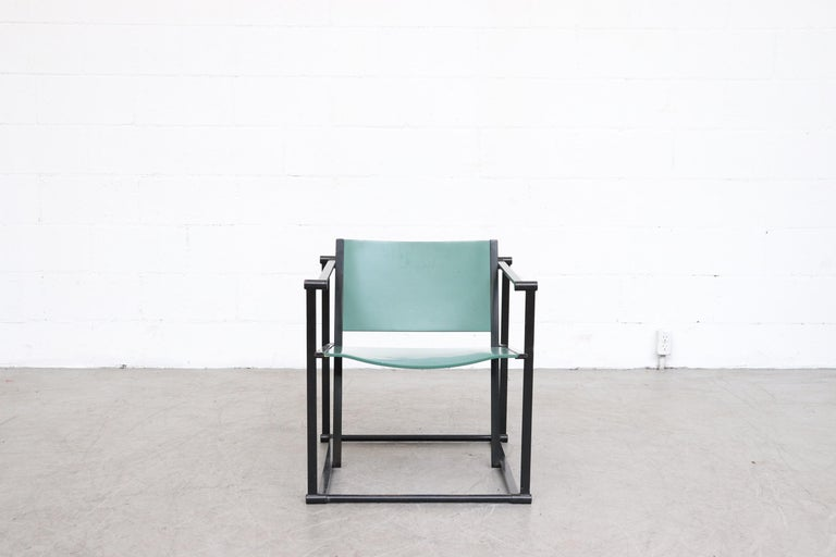 Mid-Century Modern Emerald Green Cube Chairs by Radboud Van Beekum for Pastoe For Sale