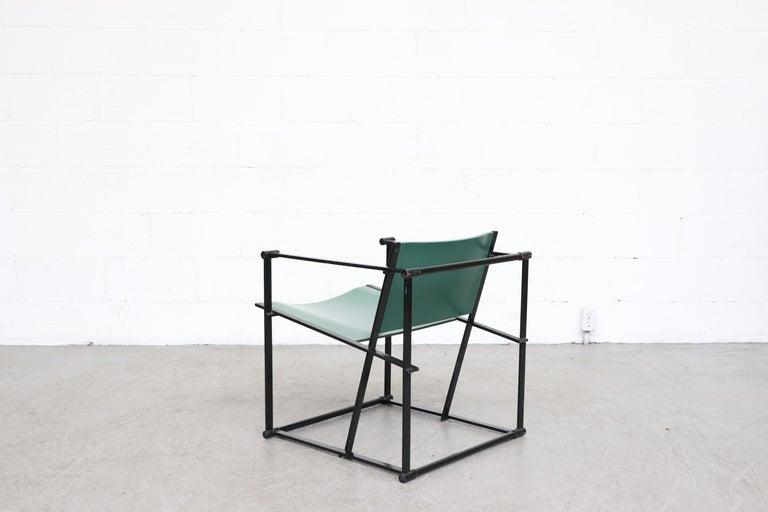 Enameled Emerald Green Cube Chairs by Radboud Van Beekum for Pastoe For Sale