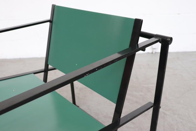 Late 20th Century Emerald Green Cube Chairs by Radboud Van Beekum for Pastoe For Sale