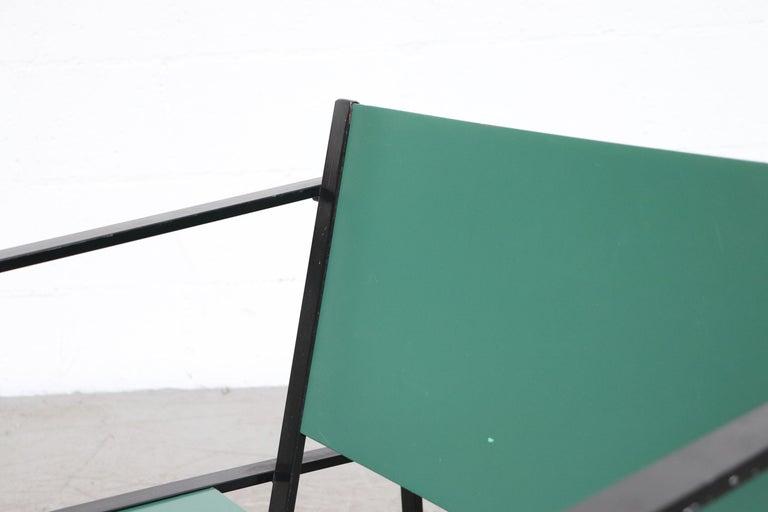 Metal Emerald Green Cube Chairs by Radboud Van Beekum for Pastoe For Sale
