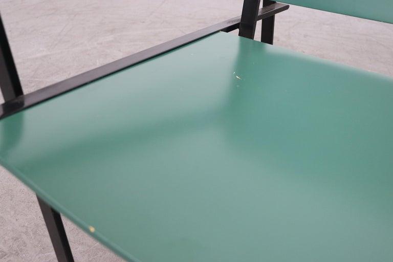 Emerald Green Cube Chairs by Radboud Van Beekum for Pastoe For Sale 1