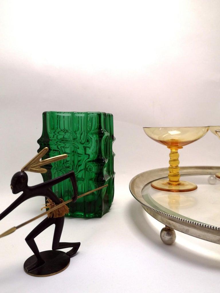 Mid-20th Century Emerald Green Vase by Vladislav Urban for Sklo Union, 20th Century, Europe 1960s For Sale