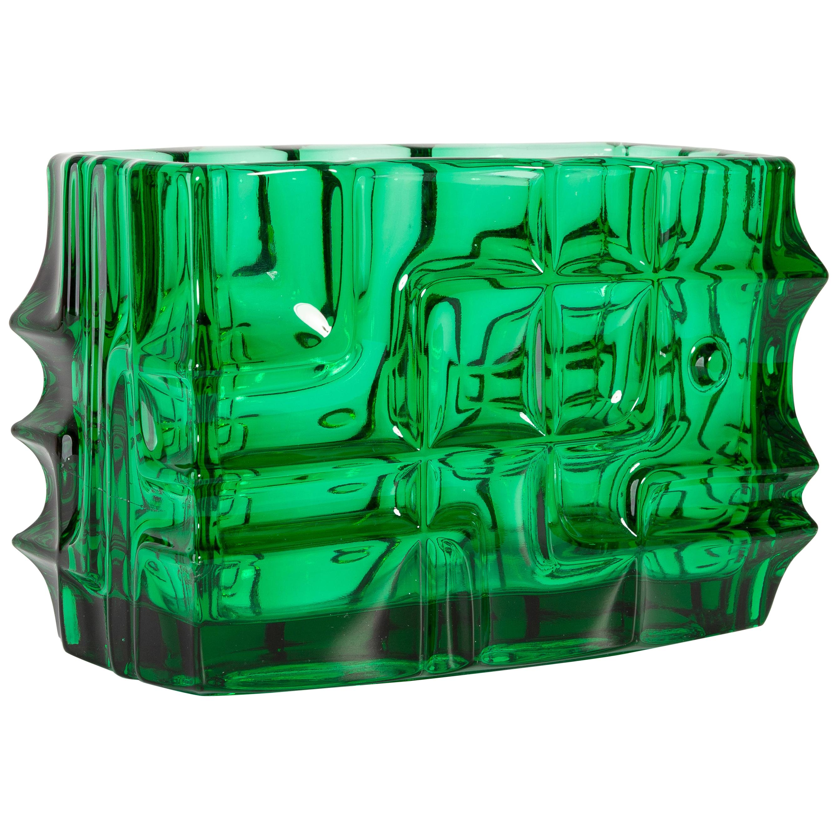 Emerald Green Vase by Vladislav Urban for Sklo Union, 20th Century, Europe 1960s