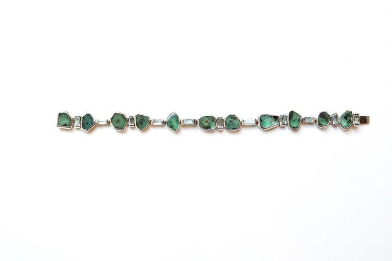 Sharon Khazzam Emerald Manza Bracelet In New Condition In Great Neck, NY