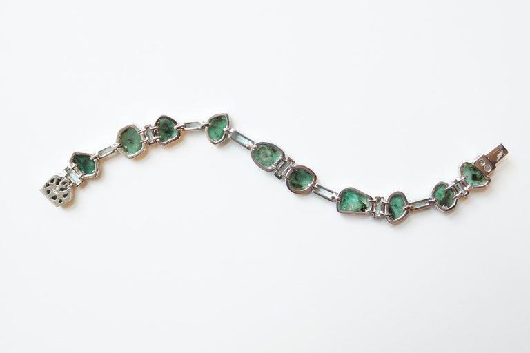 Women's or Men's Sharon Khazzam Emerald Manza Bracelet