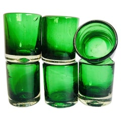 Emerald Mezcal Shot Glasses