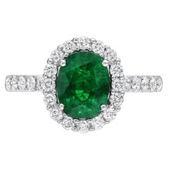 Emerald Ring 1.48 Carat Oval