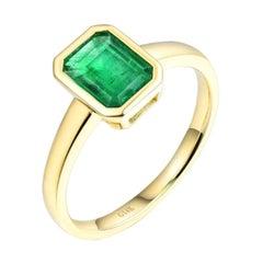 Emerald Ring 14K Yellow Gold