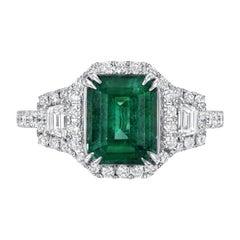 Emerald Ring 2.16 Carat Emerald Cut