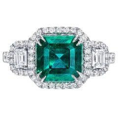 Emerald Ring 2.50 Carat Emerald Cut