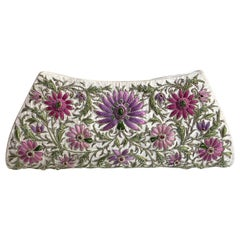 Emerald & Ruby Silk Jewel Embroidered Evening Bag