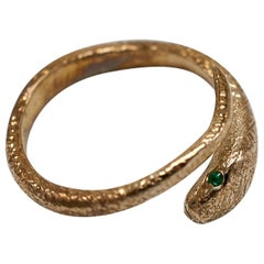 Emerald Snake Ring Victorian Style Cocktail Ring Onesie Animal Ring J Dauphin