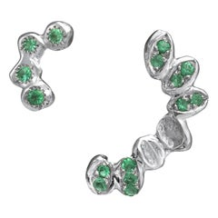 Emerald White Gold Earrings