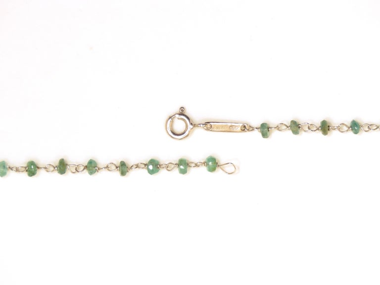 Emerald White Gold Necklace Handcrafted in Italy by Botta Gioielli In New Condition For Sale In Milano, IT