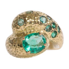 Emerald You and Me Ring Created by Marion Jeantet
