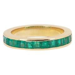 Emeralds 18 Carat Yellow Gold Band Ring