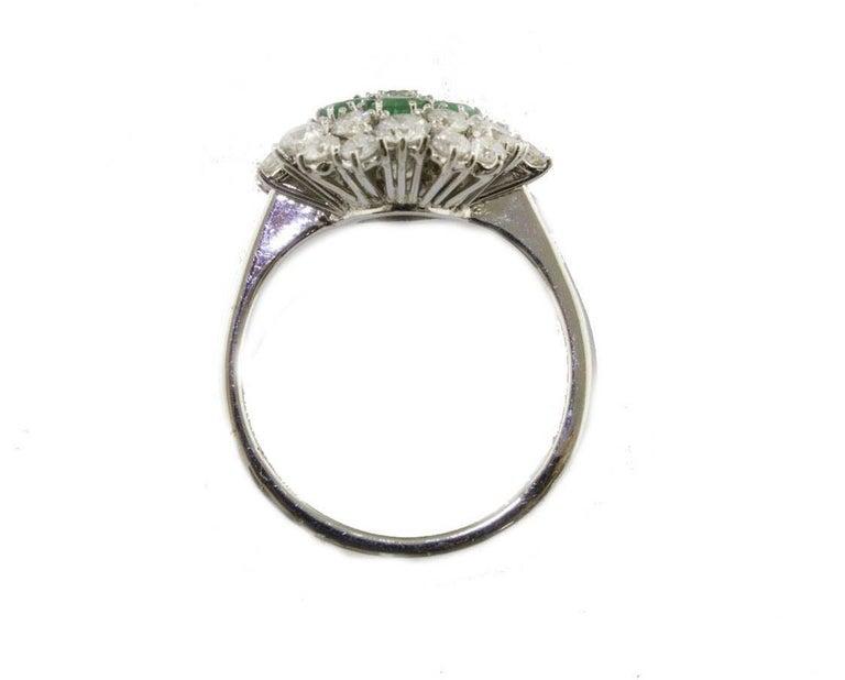 Emeralds diamonds white gold flower ring for sale at 1stdibs womens emeralds diamonds white gold flower ring for sale mightylinksfo