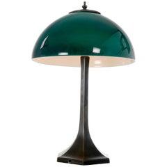 Emeralite Sandwich Glass Table Lamp