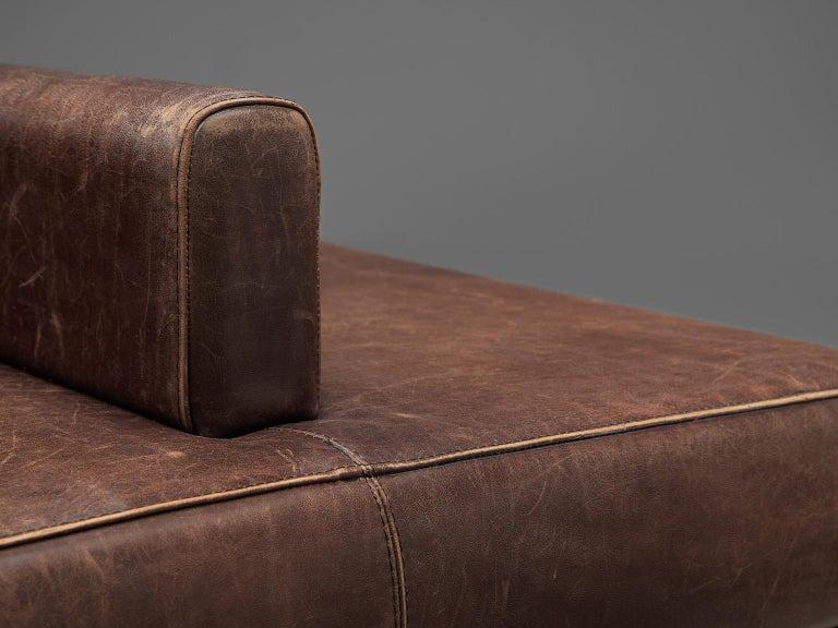 Emiel Veranneman Custom Made Bench in Buffalo Leather For Sale 1