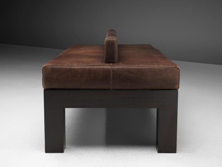 Emiel Veranneman Custom Made Bench in Buffalo Leather For Sale 2