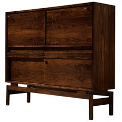 Emiel Veranneman for V-Form Rare Bar Cabinet in Rosewood