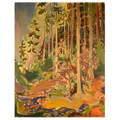 Emil A. Schou, Danish Artist, Abstract Modernist Landscape