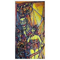 Emil Betzler 'Harlequins 1' German Expressionist Painting