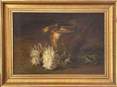 """Chrysanthemum and Copper Pot,"" Emil Carlsen, American Impressionism Still Life"