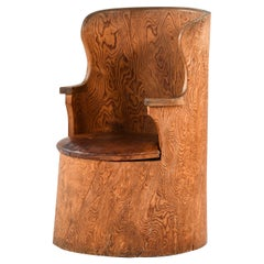 Emil Cederlund Stump Chair Produced in Mora, Sweden
