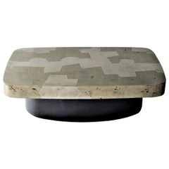 Emil Coffee/Cocktail Table by DeMuro Das in Silver and Golden Pyrite