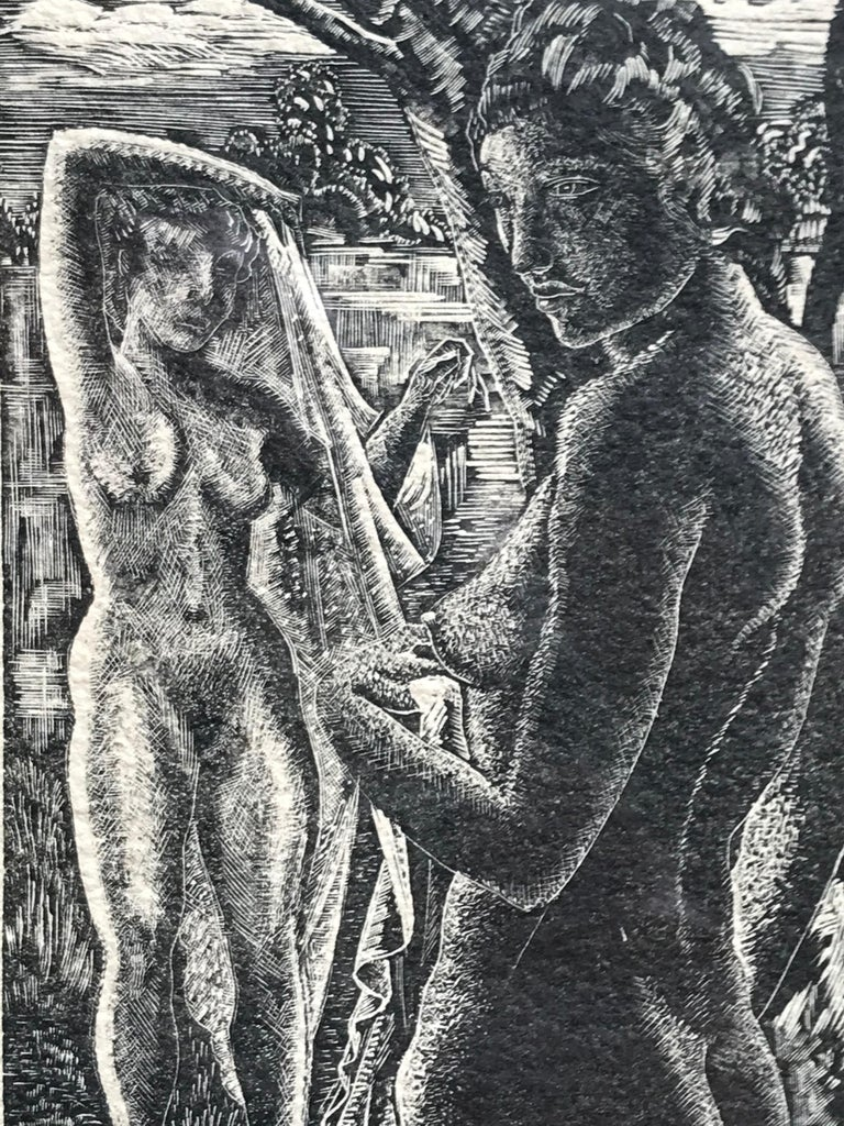 """The Bathers"" - American Modern Print by Emil Ganso"
