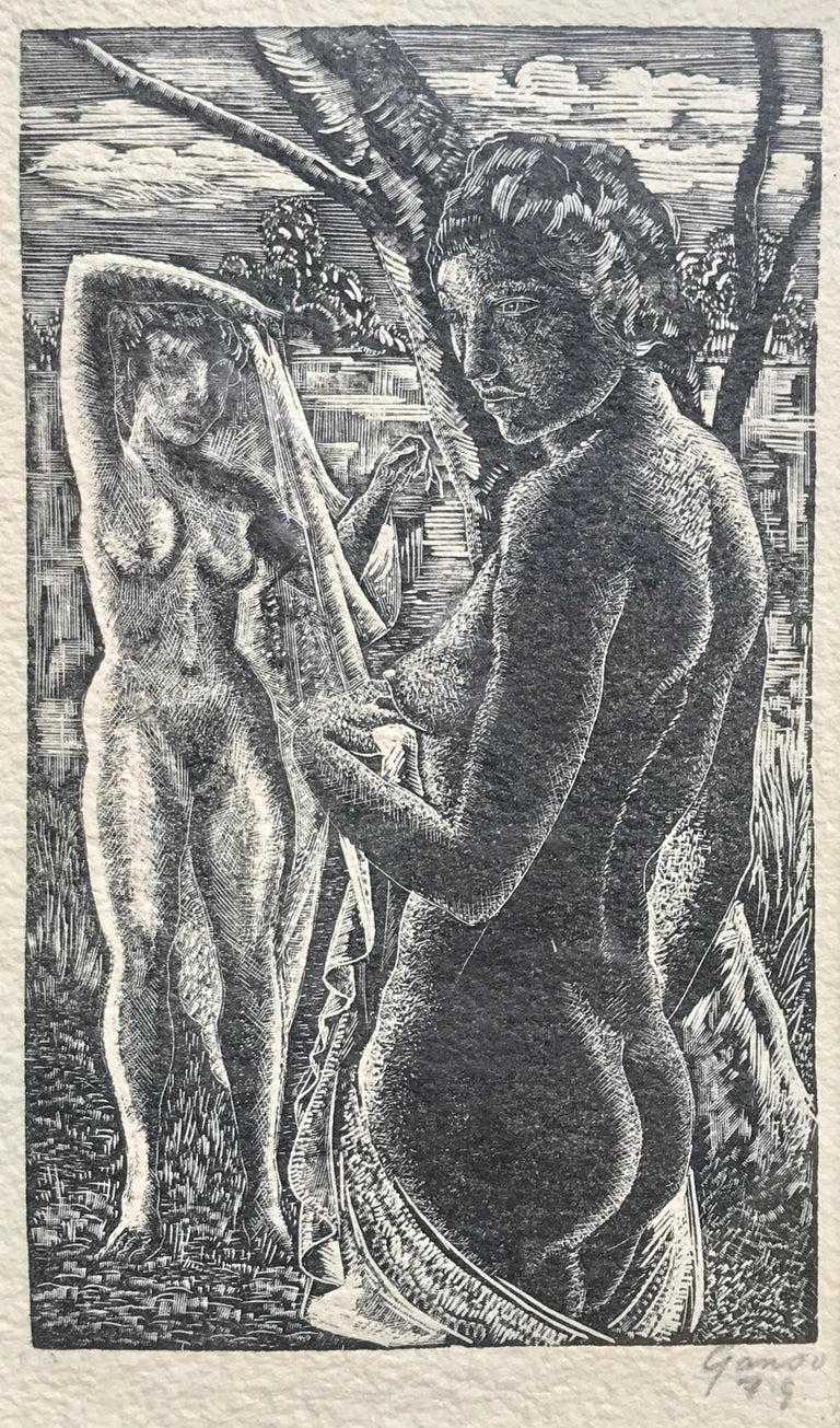"Emil Ganso Figurative Print - ""The Bathers"""
