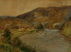 Antique Hudson North Creek Landscape 1947
