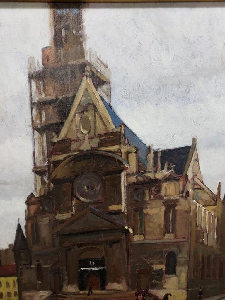 Church Paris Oil Painting by Emil Kosa Jr. For Sale 3