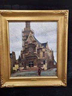 Church Paris Oil Painting by Emil Kosa Jr.