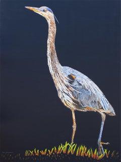 Great Blue Heron #6, Original Painting