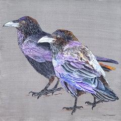 Raven Couple, Original Painting