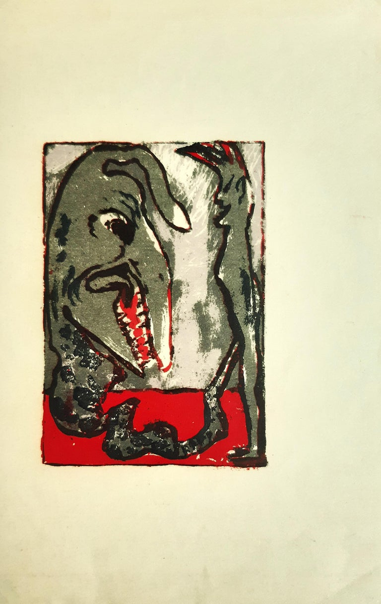 Monster - Original Lithograph by Emil Nolde - 1926 For Sale 1