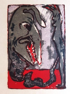 Monster - Original Lithograph by Emil Nolde - 1926