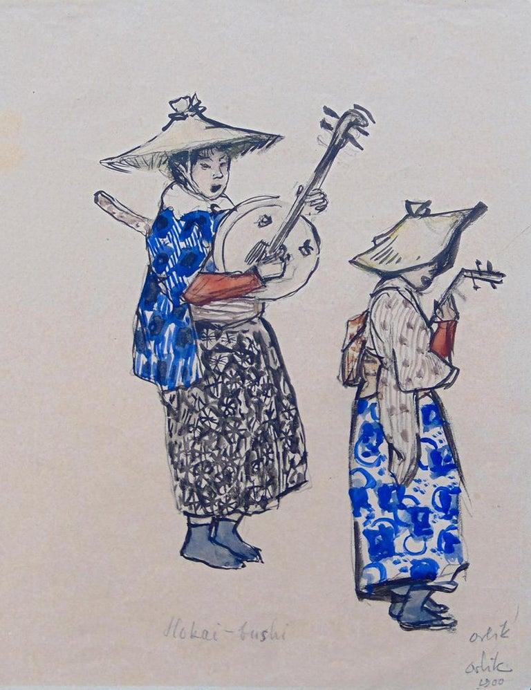 Hokai-bushi - Painting by Emil Orlik