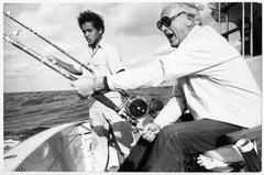 Holiday on the Bahamas - Curd Jürgens hunting on Barakudas, circa 1971.