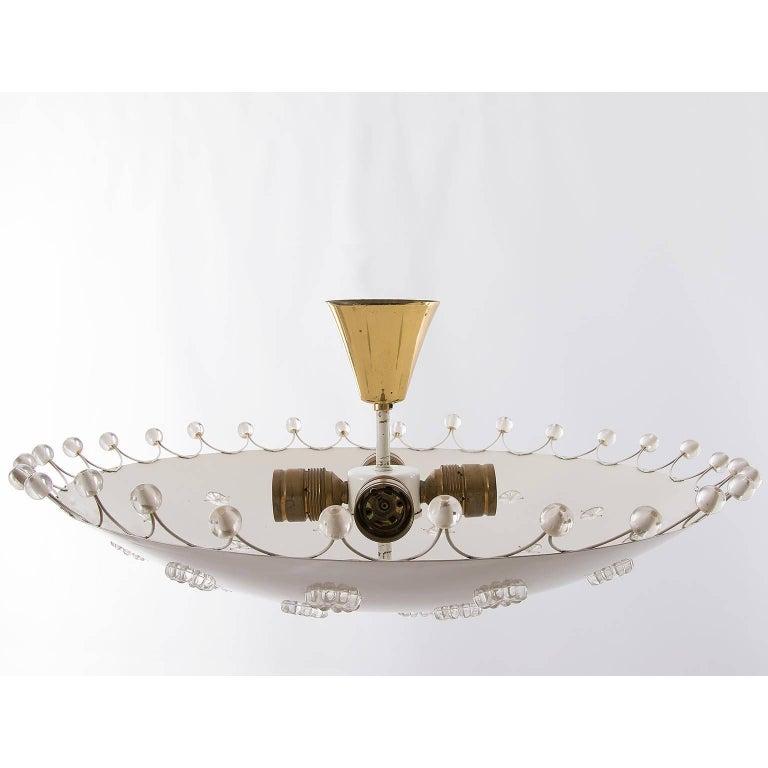 Austrian Emil Stejnar Bowl Flush Mount Light Chandelier for Rupert Nikoll, 1950s For Sale